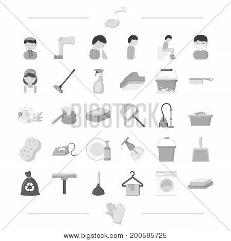hygiene, medicine, business and other  icon in black style.machine, gloves, wash, icons in set collection.