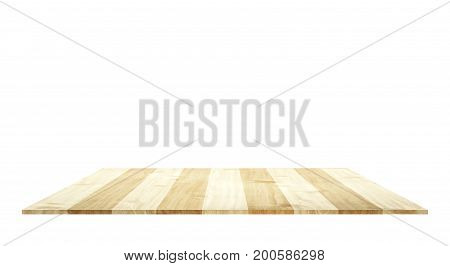 Soft brown wooden shelves table use for products or texts showing display