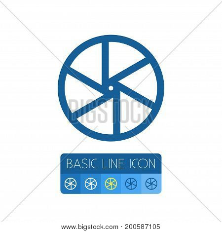 Lens Vector Element Can Be Used For Lens, Shutter, Camera Design Concept.  Isolated Shutter Outline.