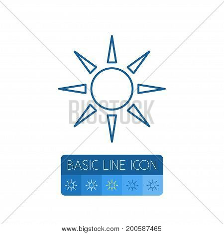 Solar Vector Element Can Be Used For Sun, Solar, Sunshine Design Concept.  Isolated Sun Outline.