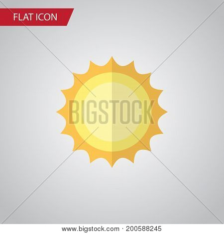 Sunshine Vector Element Can Be Used For Sunshine, Sun, Sunrise Design Concept.  Isolated Solar Flat Icon.