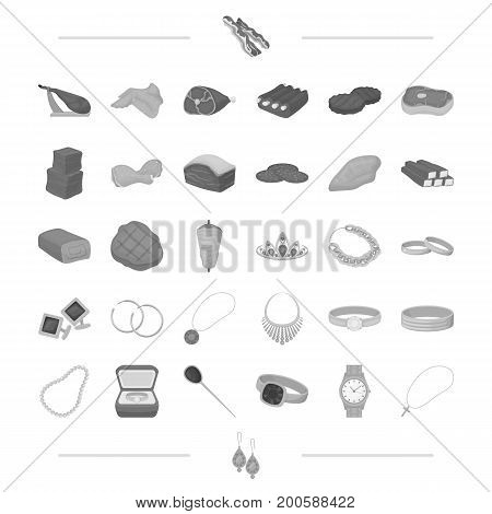 food, business, leisure and other  icon in black style.silver, gifts, treats icons in set collection.,