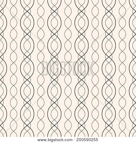 Subtle vector background. Abstract geometric seamless pattern with thin curved lines, chains, delicate mesh. Elegant pastel texture. Design element for decoration, fabric, covers, wrapping, textile.