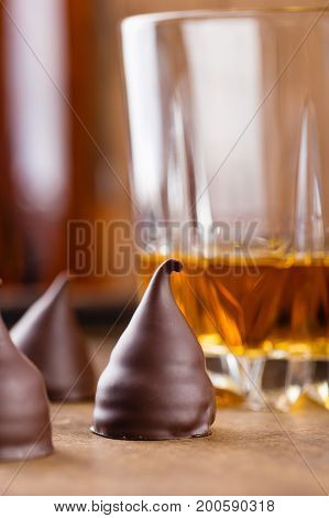 Сhocolate Truffle Candies With Rum