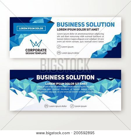 Modern corporate banner background design for letterhead document header web banner. Vector illustration