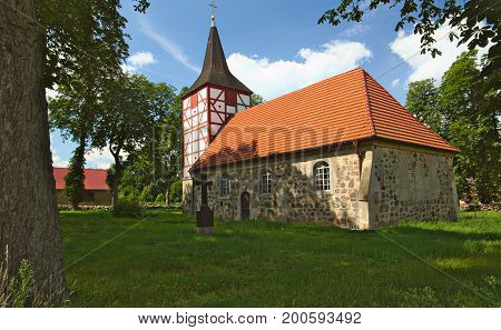 Church In Alt Plestling, Mecklenburg-west Pomerania, Germany
