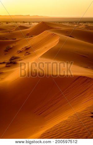 Sunrise At Erg Chebbi, Sahara, Morocco