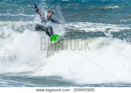 Kite Surfer On A Sunny Day