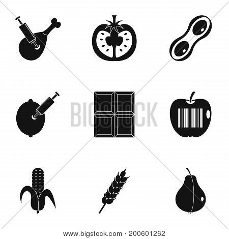 Biotechnology icon set. Simple set of 9 biotechnology vector icons for web isolated on white background poster