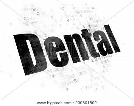 Health concept: Pixelated black text Dental on Digital background