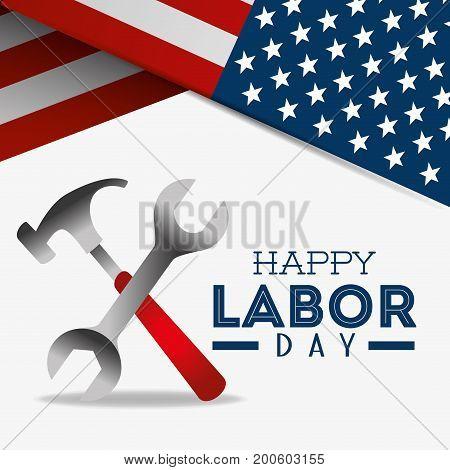 Happy labor day design vector illustration eps 10.