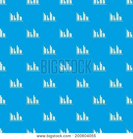Financial analysis chart pattern repeat seamless in blue color for any design. Vector geometric illustration