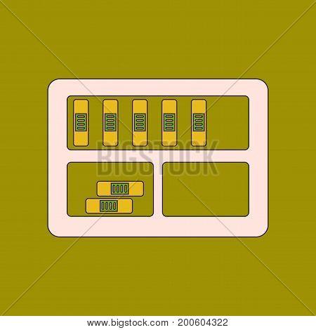 flat icon with thin lines folder shelf