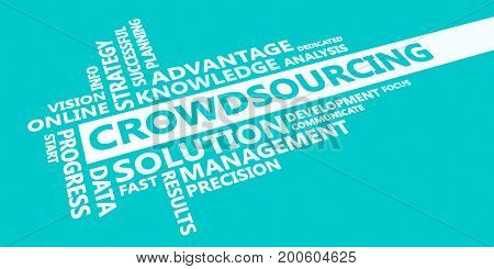 Crowdsourcing Presentation Background in Blue and White