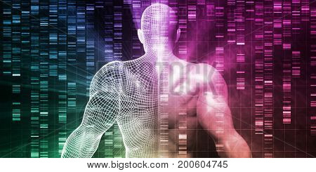 Science Body Research and Development Anatomy Concept 3D Illustration Render