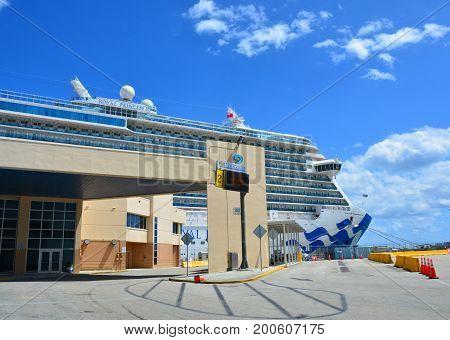 Royal Princess Ship In Fort Lauderdale