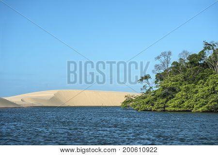 Parnaiba River (Portuguese: Rio Parnaiba) the longest river entirely located within Brazil's Northeast Region