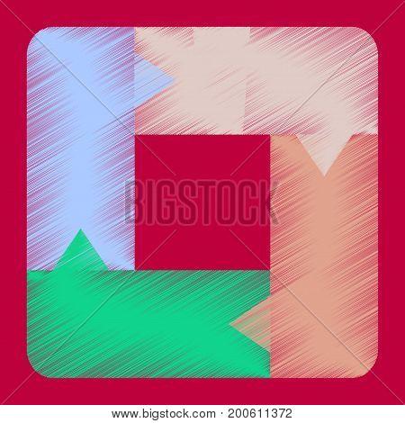 flat shading style icon Geometric chart futuristic