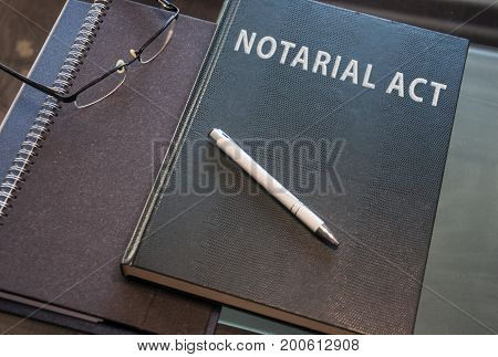 a notarial act ready to be signed