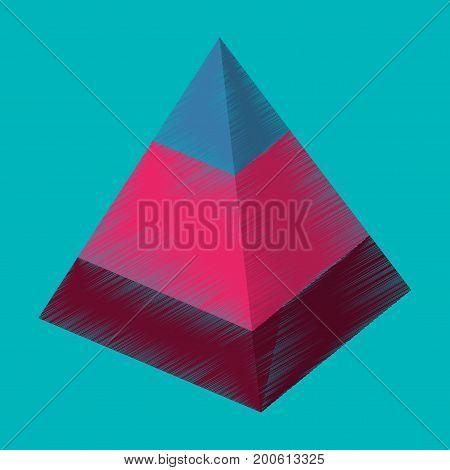 flat shading style icon Economic pyramid visualization