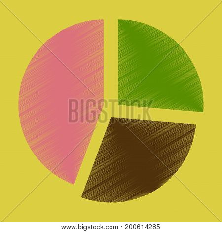 flat shading style icon Pie chart infographics