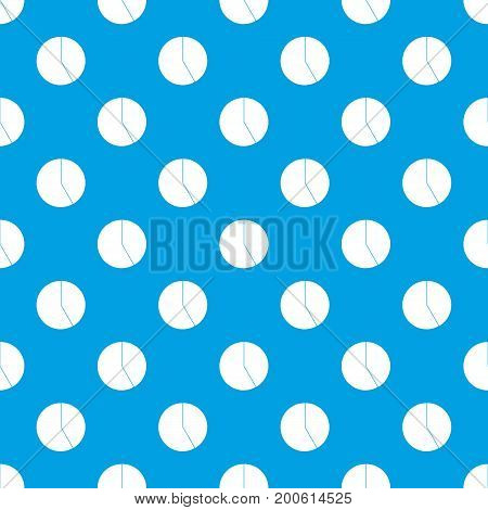 Abstract pie chart for business pattern repeat seamless in blue color for any design. Vector geometric illustration