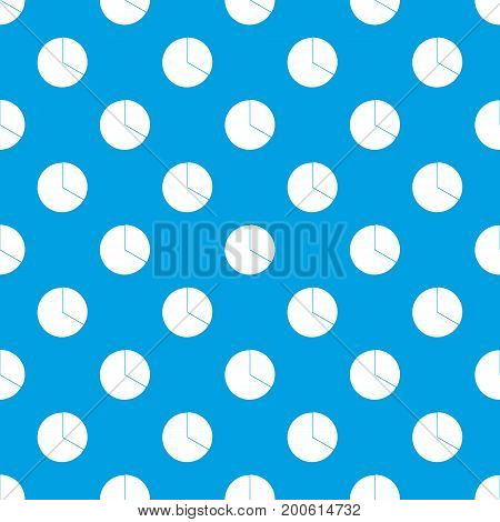 Circle chart infographic pattern repeat seamless in blue color for any design. Vector geometric illustration