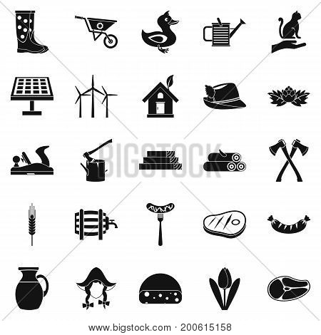 Stockroom icons set. Simple set of 25 stockroom vector icons for web isolated on white background