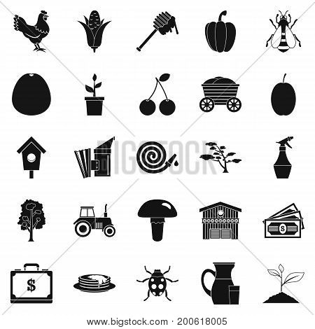 Rental icons set. Simple set of 25 rental vector icons for web isolated on white background