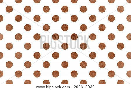 Watercolor Brown Polka Dot Background.