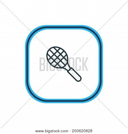 Beautiful Sport Element Also Can Be Used As Rocket Element.  Vector Illustration Of Tennis Outline.