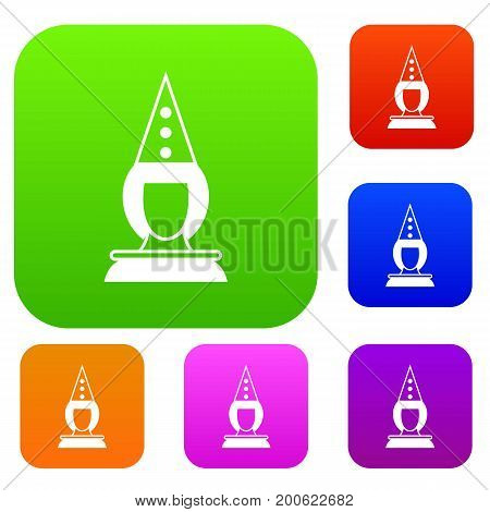 Pierrot clown set icon in different colors isolated vector illustration. Premium collection