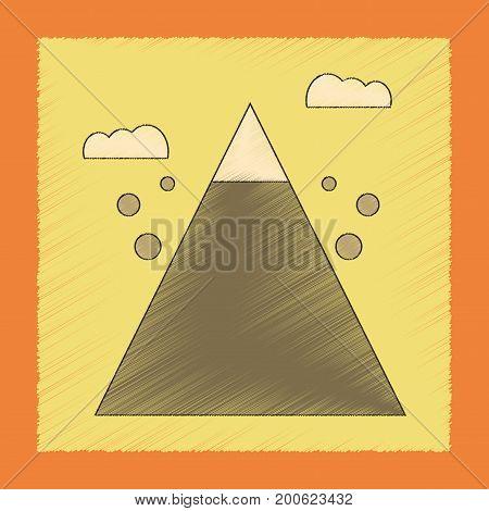 flat shading style icon of Mountain stones fall