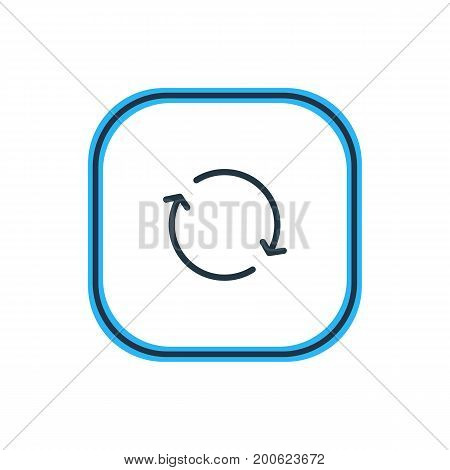 Beautiful Storage Element Also Can Be Used As Synchronize Element.  Vector Illustration Of Sync Outline.