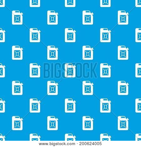 Jerrycan pattern repeat seamless in blue color for any design. Vector geometric illustration