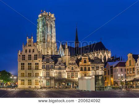 Grote Markt in Mechelen Belgium - architecture background
