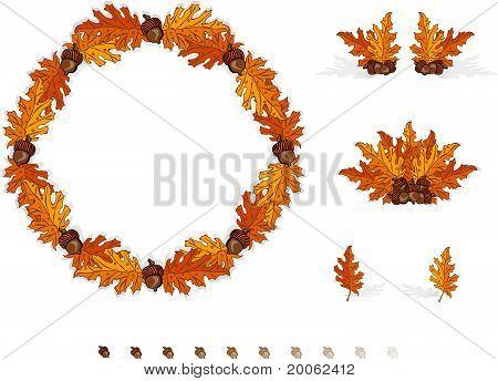 Autumn Design Elements Leaves