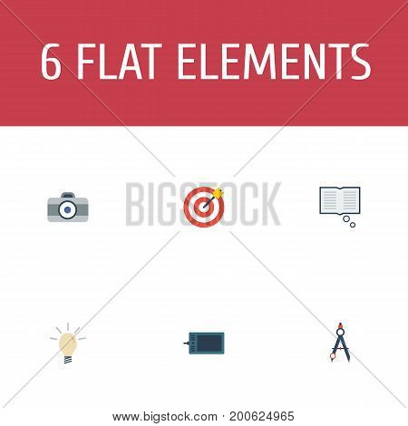 Flat Icons Gadget, Concept, Arrow And Other Vector Elements