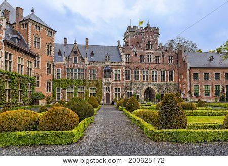 Gaasbeek Castle in Brussels Belgium - architecture background