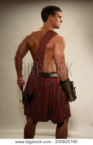 The tough military highlander prepares for battle.