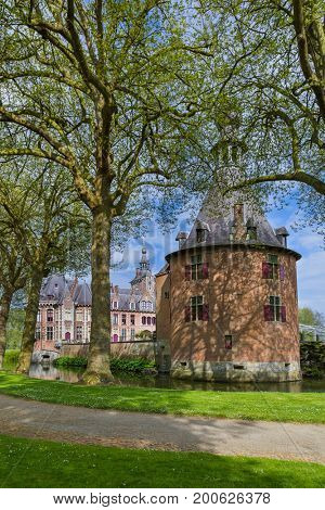 Ooidonk Castle in Belgium - architecture background