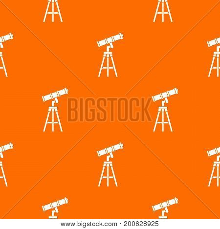 Telescope pattern repeat seamless in orange color for any design. Vector geometric illustration