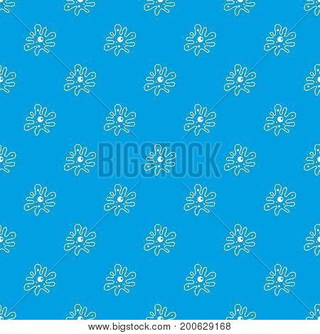 Amoeba pattern repeat seamless in blue color for any design. Vector geometric illustration