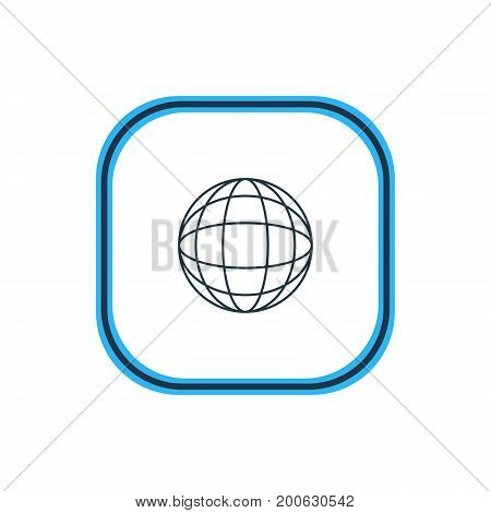 Beautiful Network Element Also Can Be Used As World Element.  Vector Illustration Of Globe Outline.