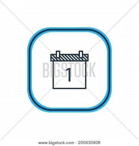 Beautiful Banquet Element Also Can Be Used As Date Block Element.  Vector Illustration Of Calendar Outline.