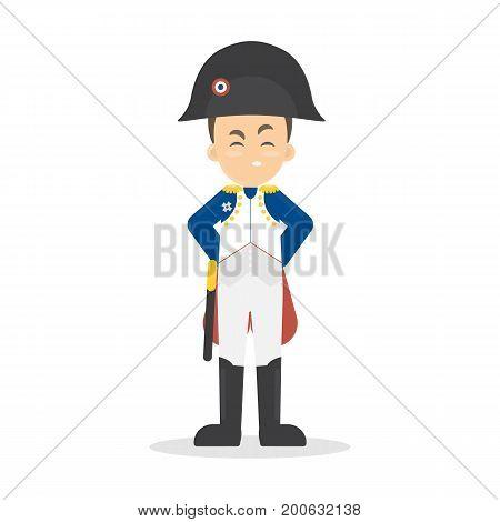 Isolated Napoleon Bonaparte on white background. Famous historic leader.