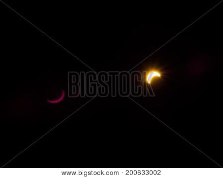 Solar eclipse of 2017 seen from Victoria British Columbia