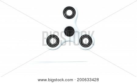 Abstract background with hand spinner. 3d rendering