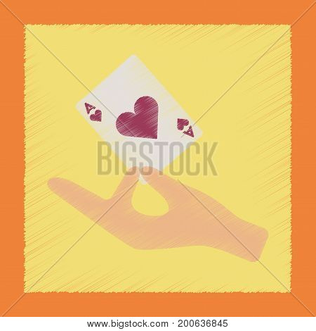 flat shading style icon poker hand playing cards