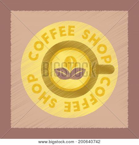 flat shading style icon vintage Coffee shop logo